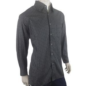 Ermenegildo Zegna Geometric Square Shirt Sz L